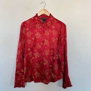 Jonathan Martin Studio Silk Button Up Shirt